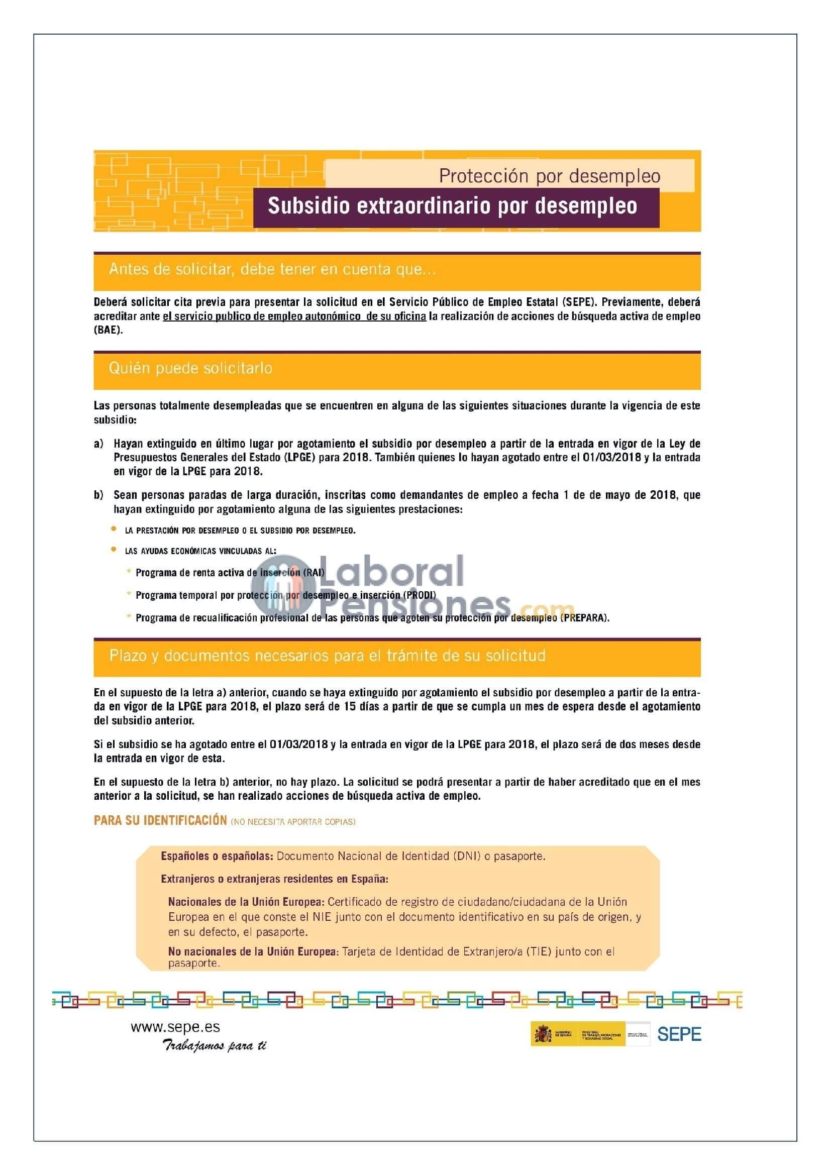 Nuevo Subsidio Extraordinario De Desempleo Laboral Pensiones